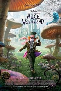 Alice In Wonderland Poster Featuring Johnny Depp As The Mad Hatter