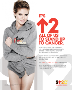 Heidi Klum In New Stand Up To Cancer Campaign