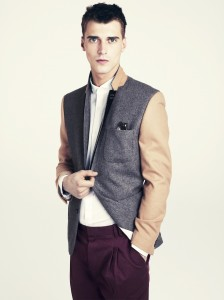"""A two tone blazer over a white shirt feels new"" A/W 11/12 H&M"