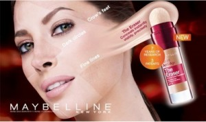 Banned Maybelline ad featuring a heavily airbrushed Christy Turlington