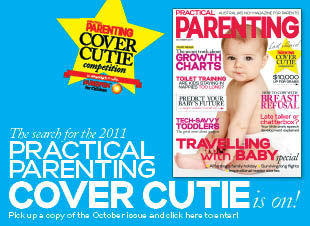Practical Parenting magazine's Cover Cutie competition