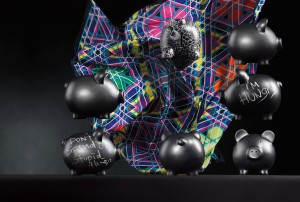 Marcel Wanders for M&S -  'Percy goes to school' Includes soft fruit gums (100g) and a stick of chalk,  £10, Women's Tartan square scarf  is multicoloured and 100% silk, £29.50