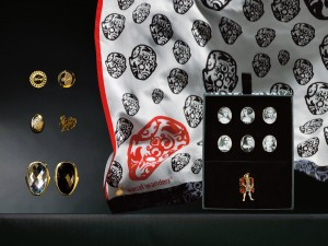 Marcel Wanders for M&S - Right and Wrong cuff links, £19.50; Chick and Egg cuff links, £19.50; Nosé cuff links, £25; Henry VIII cuff link set, £45; Nosé silk square scarf, £29.50