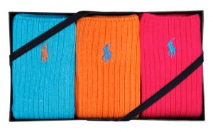 Bright ribbed sock set by Polo Ralph Lauren, £30 at House Of Fraser