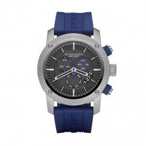 Blue Chronograph Rubber Strap Watch, £325 Burberry Sport