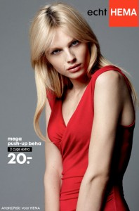 Male Model Andrej Pejic In Hema Lingerie Ad