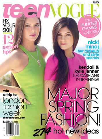 Teen Vogue cover March 2012