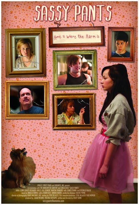 Sassy Pants' poster featuring Haley Joel Osment (middle frame)