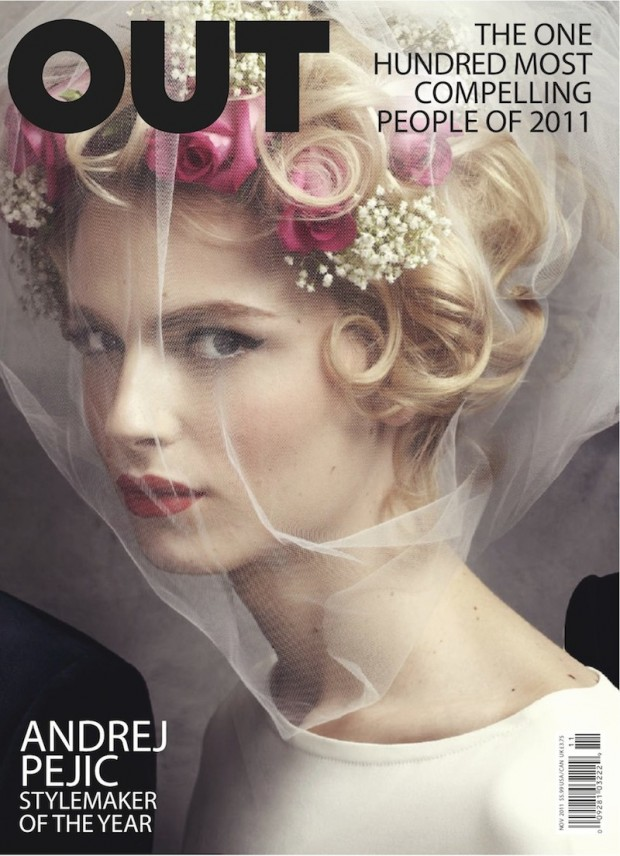 Andrej Pejic for Out magazine