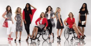A shot from Debenhams' ongoing Inclusivity Campaign using inspirational and realistic models