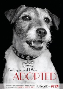 The Artist's Uggie appears in new PETA ad