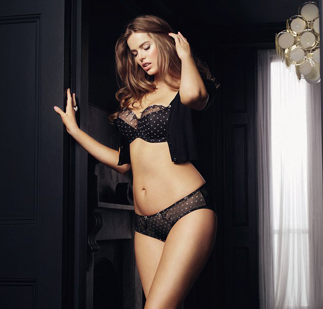 bff5f5aa95c40 Plus Size Model Robyn Lawley Fronts Lingerie Brand Boux Avenue ...