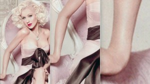 Close ups of Christina Aguilera's new fragrance ad