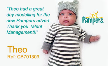 baby modelling london with talent management model agency